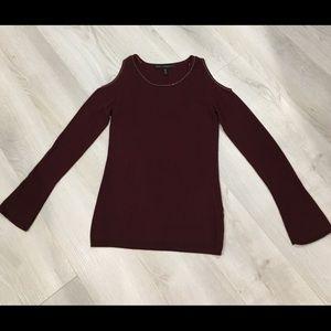 White House Black Market Cold Shoulder Sweater